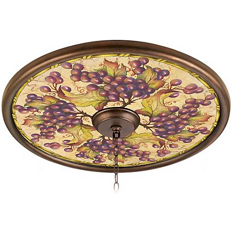 "Tuscan Grapes 24"" Giclee Bronze Ceiling Medallion"