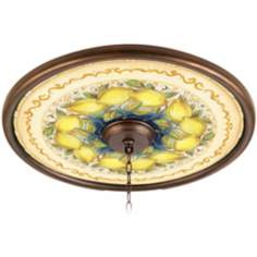 "Summer Lemons 24"" Giclee Bronze Ceiling Medallion"