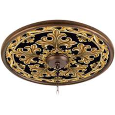 "Villa Gold 24"" Giclee Bronze Ceiling Medallion"