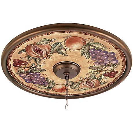 "Tuscan Fruit 24"" Giclee Bronze Ceiling Medallion"