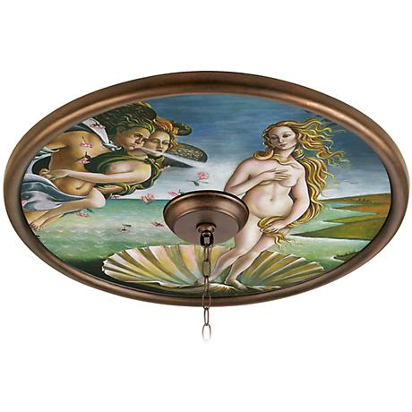 "Italian Renaissance Mural 24"" Wide Bronze Finish Medallion"