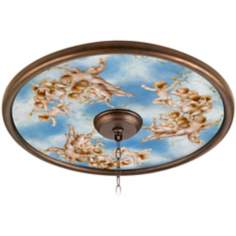 "Celestial 24"" Wide Bronze Finish Ceiling Medallion"