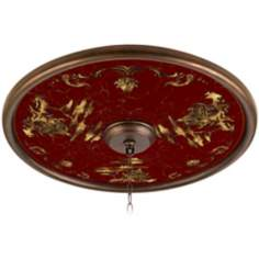 "Gold Pagoda 24"" Wide Bronze Finish Ceiling Medallion"