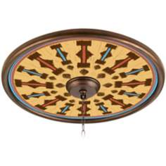 "Pala Mesa 24"" Wide Bronze Finish Ceiling Medallion"