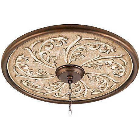 "Sarah Ann 24"" Wide Bronze Finish Ceiling Medallion"