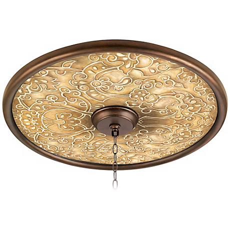 "Orleans Scroll 24"" Wide Bronze Finish Ceiling Medallion"
