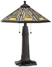 Dale Tiffany Grueby Mission Tiffany Table Lamp