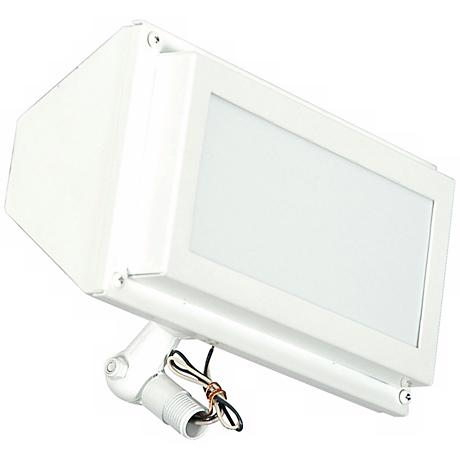 "White Finish 10 1/8"" Wide Flood Light"
