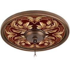 "Etruscan Wine 16"" Wide Bronze Finish Ceiling Medallion"