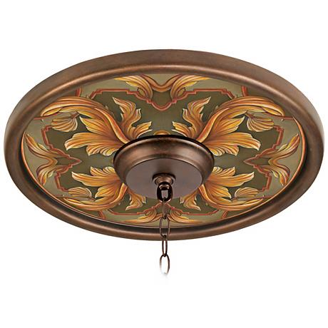 "Etruscan Sunset 16"" Wide Bronze Finish Ceiling Medallion"