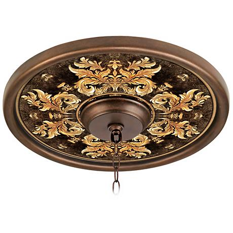 "Kings Way 16"" Wide Bronze Finish Ceiling Medallion"