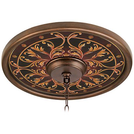 "Tracery Jewels 16"" Wide Bronze Finish Ceiling Medallion"