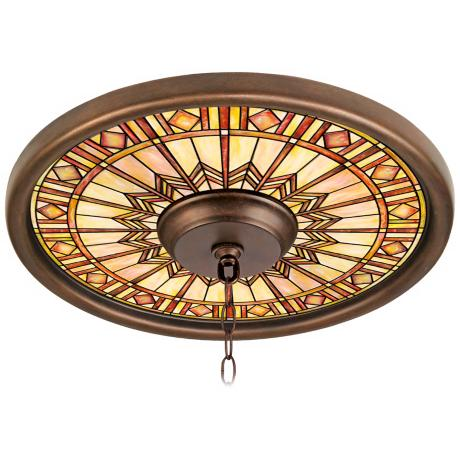 "Mackintosh Sun 16"" Wide Bronze Finish Ceiling Medallion"