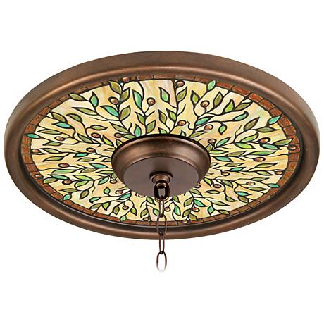 "Olive Dance 16"" Wide Bronze Finish Ceiling Medallion"