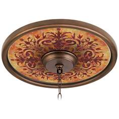 "Tuscan Fire 16"" Wide Bronze Finish Ceiling Medallion"