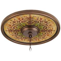 "Tuscan Basil 16"" Wide Bronze Finish Ceiling Medallion"