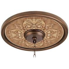 "Antiquity Clay 16"" Wide Bronze Finish Ceiling Medallion"