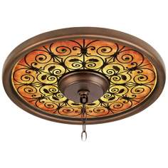 "Madrid Spice 16"" Wide Bronze Finish Ceiling Medallion"