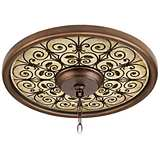 "Madrid Clay 16"" Wide Bronze Finish Ceiling Medallion"