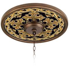 "Villa Gold 16"" Wide Bronze Finish Ceiling Medallion"