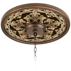 "Villa Bronze 16"" Wide Bronze Finish Ceiling Medallion"