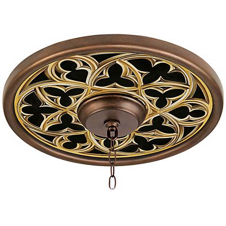 "Gothic Arch 16"" Wide Bronze Finish Ceiling Medallion"