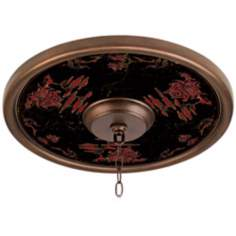 "Red Pagoda Giclee 16"" Wide Bronze Ceiling Medallion"