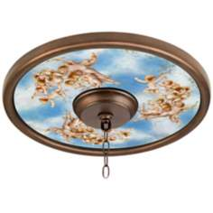 "Celestial 16"" Wide 4"" Center Bronze Ceiling Medallion"