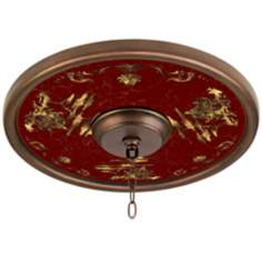 "Gold Pagoda 16"" Wide 4"" Center Bronze Ceiling Medallion"