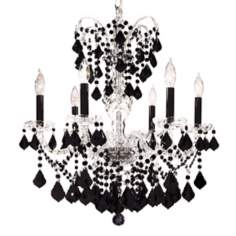 James R. Moder Vienna Collection Black Crystal Chandelier