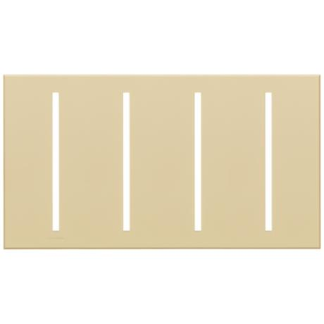 Lutron Vierti Beige Four Gang Screwless Faceplate