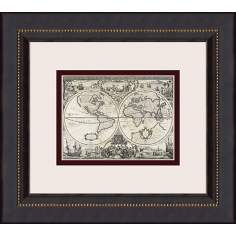 "Parchment Maps-Mini B 16"" High Wall Art"