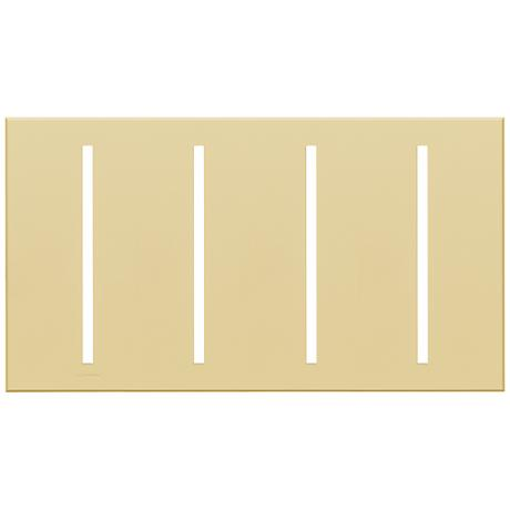 Lutron Vierti Ivory Four Gang Screwless Faceplate