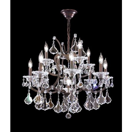 James R. Moder Thirteen Light Crystal Chandelier