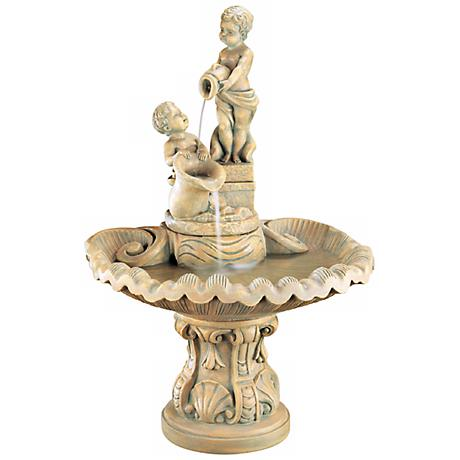 Henri Studio Pouring Cherubs Fountain
