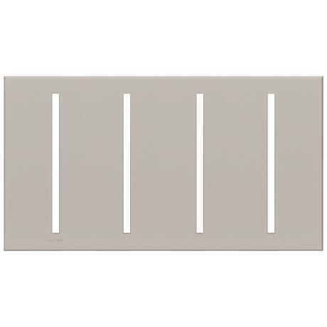 Lutron Vierti Gray Four Gang Screwless Faceplate