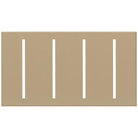 Lutron Vierti Taupe Four Gang Screwless Faceplate
