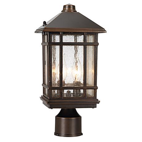 "J du J Sierra Craftsman 14"" High Outdoor Post Mount"