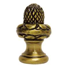 Acorn Antique Brass Finial