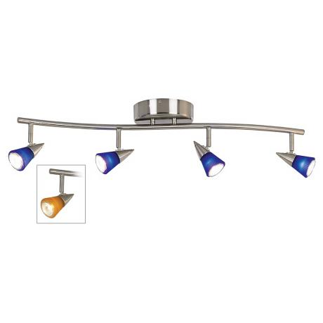 Pro Track® 200 Watt Amber and Blue Glass Four Light Wave Bar