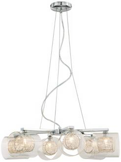 Possini Euro Design Wire and Glass Cylinder Chandelier (04030) 04030