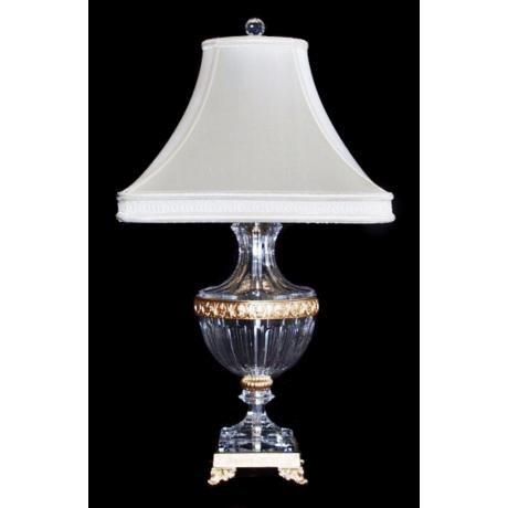 Schonbek Luxor French Gold Crystal Table Lamp