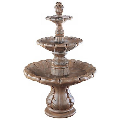 Henri Studio Classical Finial Garden Fountain