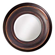 "Smooth Burnished Copper 33"" Wide Wall Mirror"