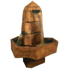 Henri Studios Abstract Obelisk Relic Lava Finish Fountain