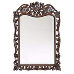 Floral Open Work Wall Mirror