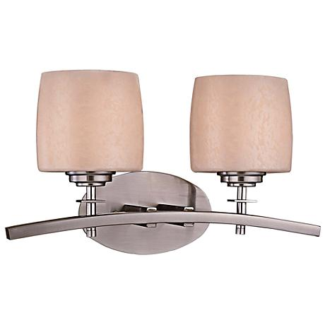 Minka Raiden 2-Light Brushed Nickel Bath Light