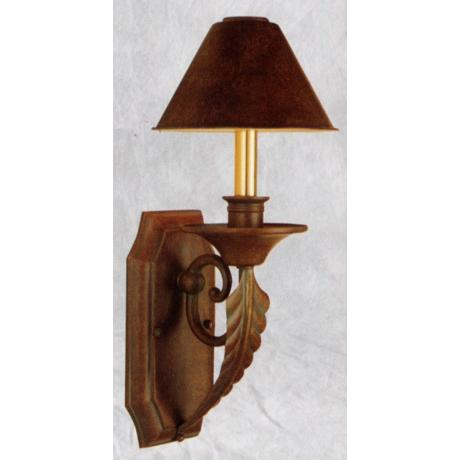 "Bronze Finish 17"" High 7"" Wide Wall Sconce"