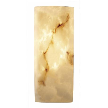 Faux Alabaster Rectangle Wall Sconce