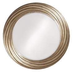 "Burnished Silver Leaf Swirl 33"" Wide Wall Mirror"